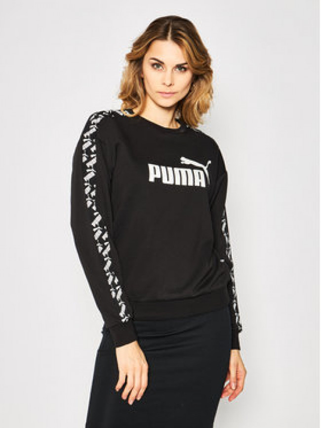Puma Mikina Amplified Crew 582022 Čierna Regular Fit