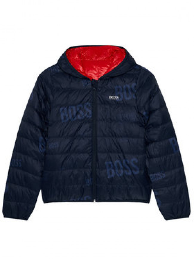 Boss Vatovaná bunda J26416 S Červená Regular Fit
