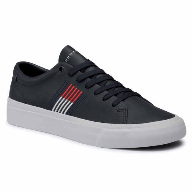 Sneakersy TOMMY HILFIGER -  Corporate Leather Sneaker FM0FM02853 Desert Sky DW5