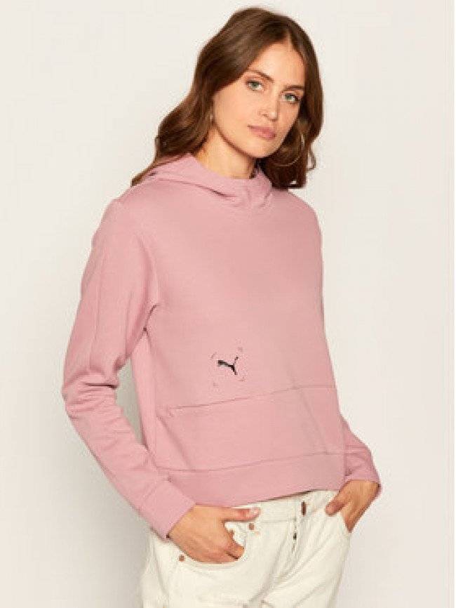 Puma Mikina Nu-Tility Hoodie 583548 Ružová Relaxed Fit