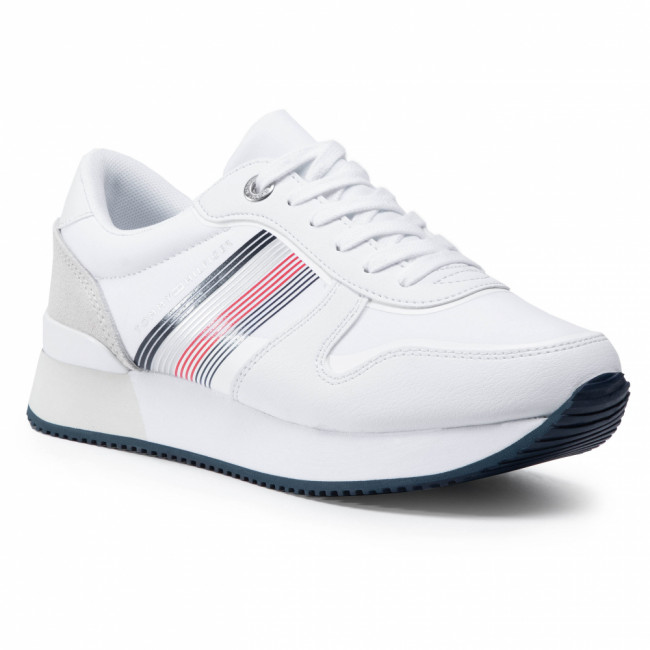 Sneakersy TOMMY HILFIGER - Active City Sneaker FW0FW05011 White YBR