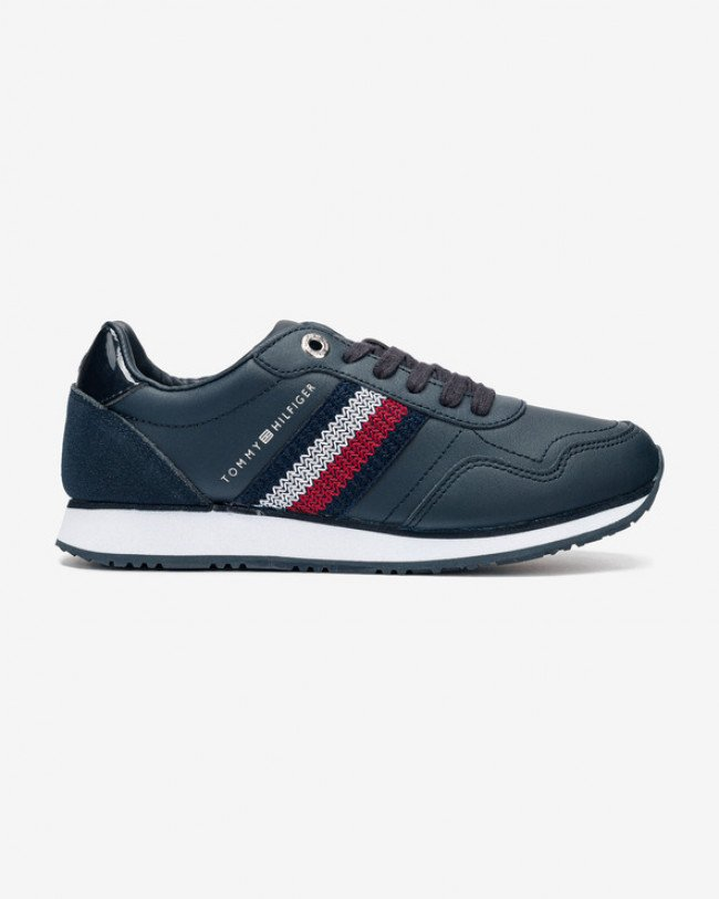 Tommy Hilfiger Tommy Leather Low Runner Tenisky Modrá