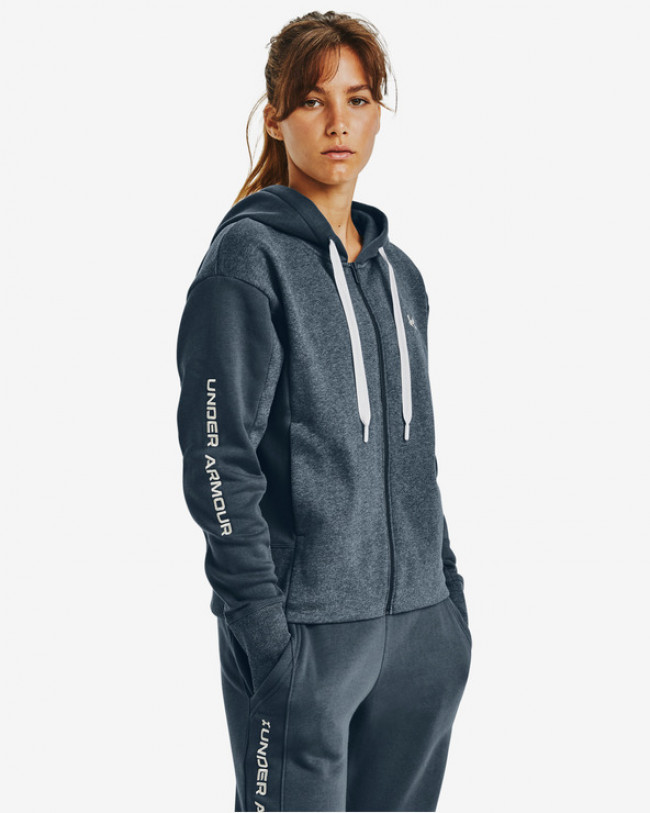 Under Armour Rival Fleece Embroidered Full Zip Mikina Modrá