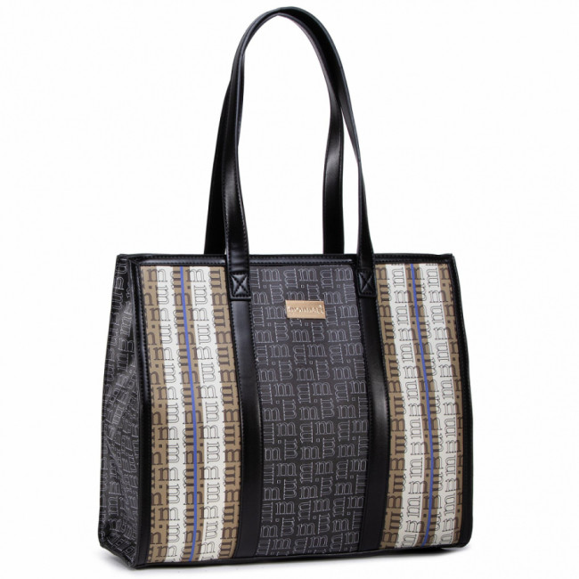 Kabelka MONNARI - BAG7210-M20 Beige With Blk With Navy With Patt