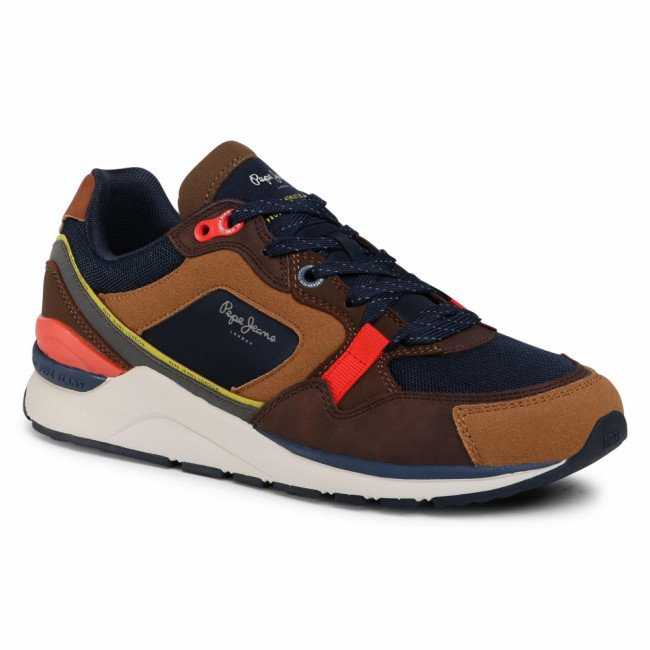 Sneakersy PEPE JEANS - X20 Runner PMS30660 Tobacco 859
