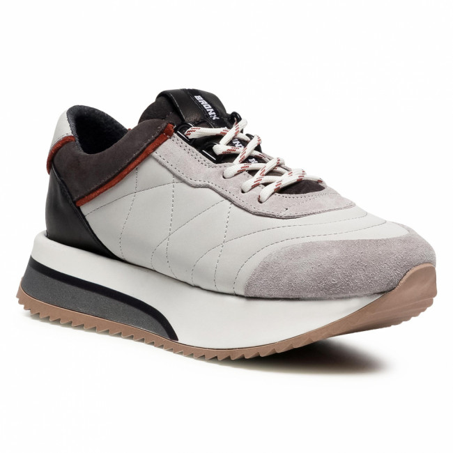 Sneakersy BRONX - 66361-AC Ice Grey/Rust/Asphalt 3414