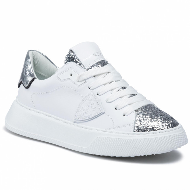 Sneakersy PHILIPPE MODEL - Temple BTLD VG02 Glitter Blanc Argent