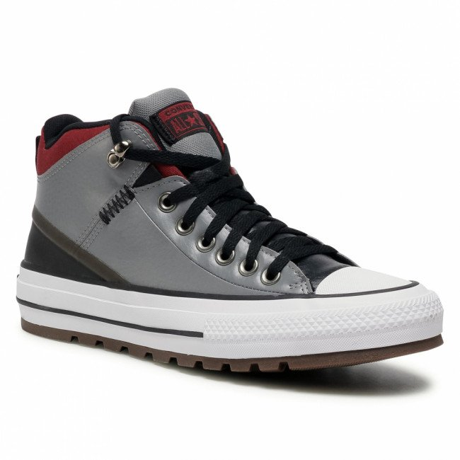 Tramky CONVERSE - Ctas Street Boot Hi 168867C Mason/Black/Team Red