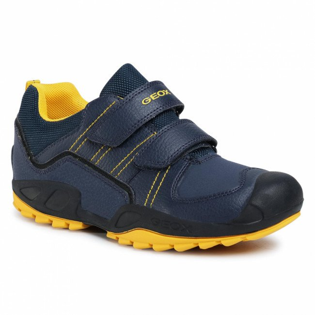 Sneakersy GEOX - J N.Savage B. A J041VA 0FEFU C4054 D Navy/Yellow