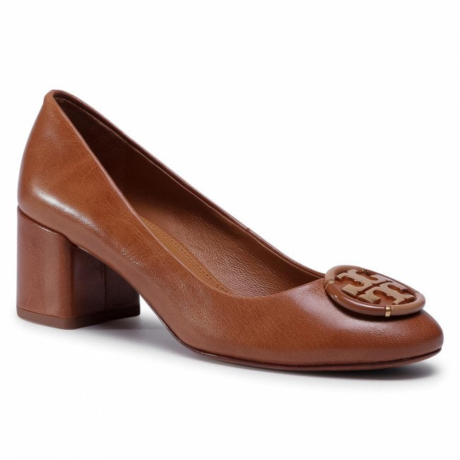Poltopánky TORY BURCH - 55MM Multi Logo Pump 76483 Tan 240