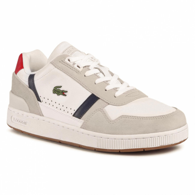 Sneakersy LACOSTE - T-Clip 0120 2 Sma 7-40SMA0048407 Wht/Nvy/Red