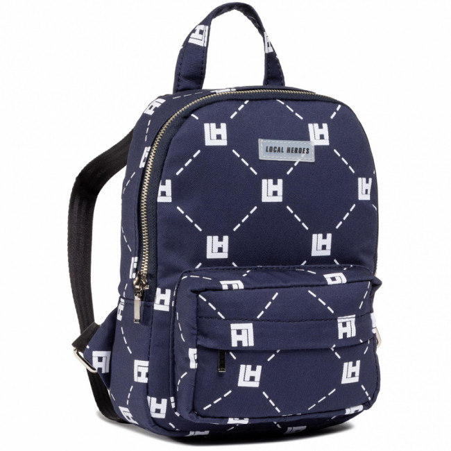 Ruksak LOCAL HEROES - Monogram Mini Backpack AW2021BAG014 Navy Blue