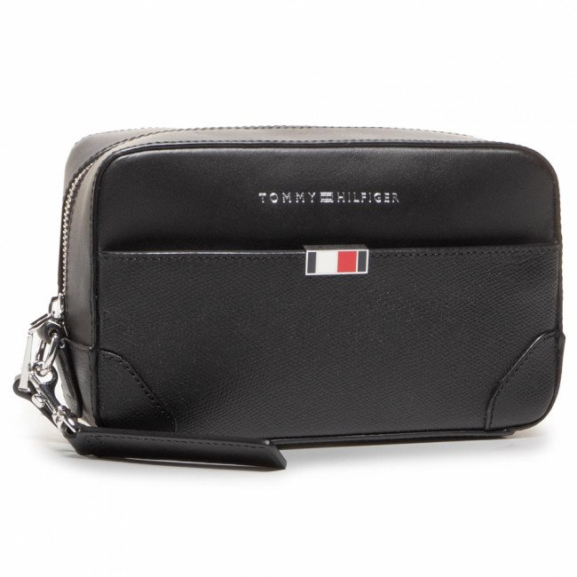Kozmetická taštička TOMMY HILFIGER - Business Leather Washbag AM0AM06513 BDS