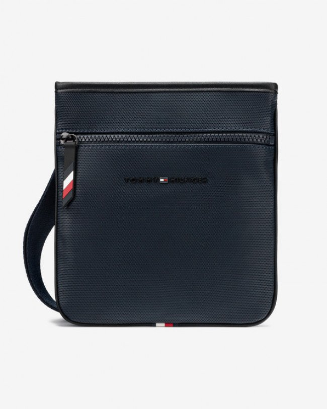 Tommy Hilfiger Essential Pique Mini Cross body bag Modrá