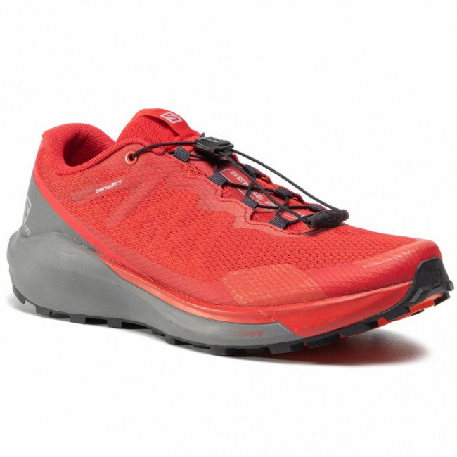 Topánky SALOMON - Sense Ride 3 411192 27 V0 Goji Berry/Quiet Shade/Red Orange