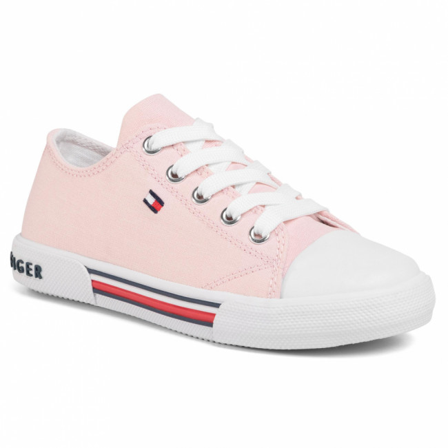 Tramky TOMMY HILFIGER - Low Cut Lace-Up Sneaker T3A4-30605-0890 M Pink 302