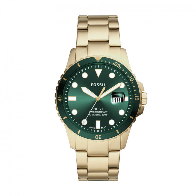 Hodinky FOSSIL - FB-01 FS5658 Gold/Green