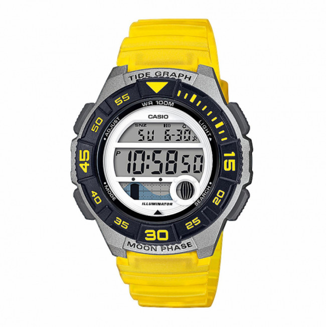 Hodinky CASIO - LWS-1100H-9AVEF Yellow/Silver