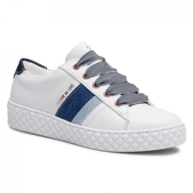 Sneakersy CYCLEUR DE LUXE - Pica CDLW211012 White/Jeans