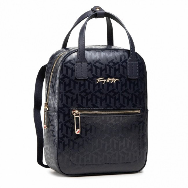 Ruksak TOMMY HILFIGER - Iconic Tommy Backpack Mono AW0AW09956 DW5