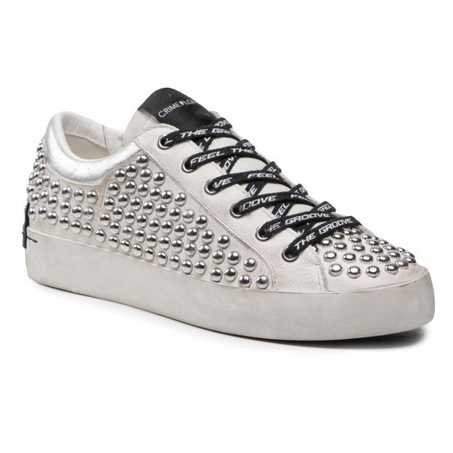 Sneakersy CRIME LONDON - Low Top Heritage 25401PP3.10 White