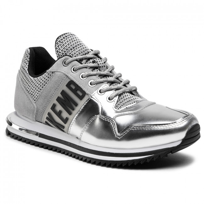 Sneakersy BIKKEMBERGS - Hovan Low Top Lace Up B4BKM0029  Silver