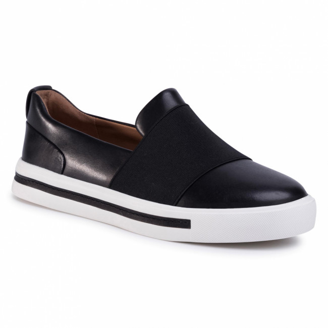 Sneakersy CLARKS - Un Maul Step 261425124  Black Leather