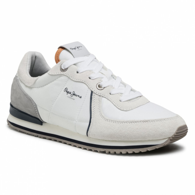 Sneakersy PEPE JEANS - Tinker City 21 PMS30728 Factory White 801