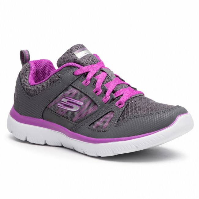 Topánky SKECHERS - New World 12997/CCPR  Charcoal/Purple