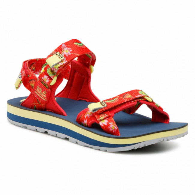 Sandále JACK WOLFSKIN - Outfresh Deluxe Sandal W 4039451-7828030 Tulip Red All Over