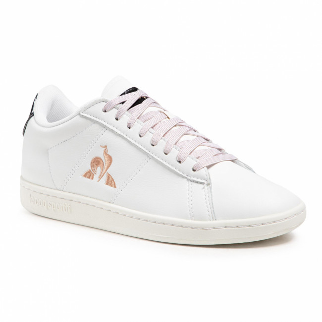 Sneakersy LE COQ SPORTIF - Courtset W Patent 2110126  Optical White/Rose Gold