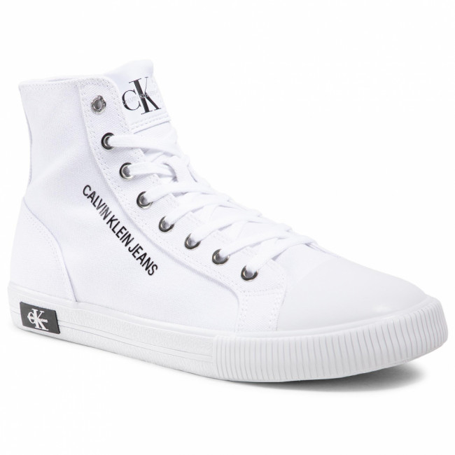 Tramky CALVIN KLEIN JEANS - Vulcanized Sneaker Highlaceup Co YM0YM00019 Bright White YAF