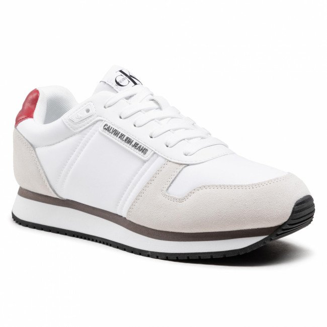 Sneakersy CALVIN KLEIN JEANS - Runner Sneaker Laceup YM0YM00038 Bright white YAF