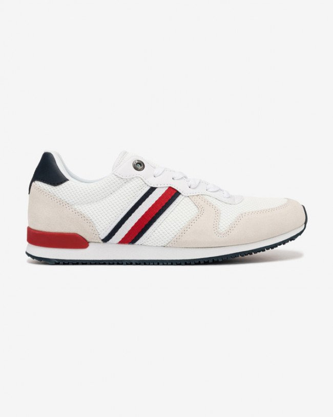 Tommy Hilfiger Iconic Material Mix Runner Tenisky Biela
