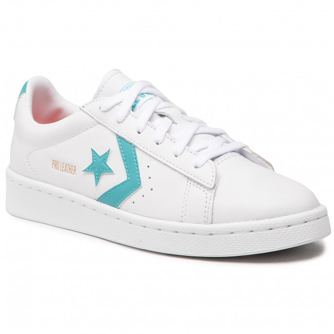 Sneakersy CONVERSE - Pro Leather 170755C White/Harbor Teal/White