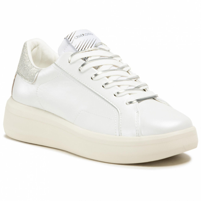 Sneakersy CRIME LONDON - Low Top Level Up 25306PP3.10 White