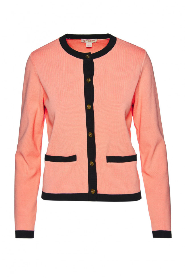 Sveter Brooks Brothers Swt Ctn Blend Button Cardigan Coral Pink