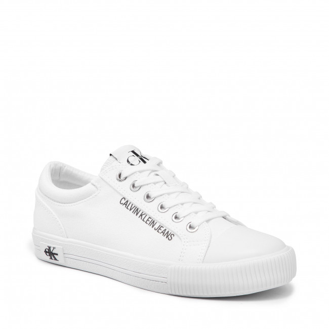 Tramky CALVIN KLEIN JEANS - Vulcanized Sneaker Laceup Co YW0YW00042 Bright White YAF
