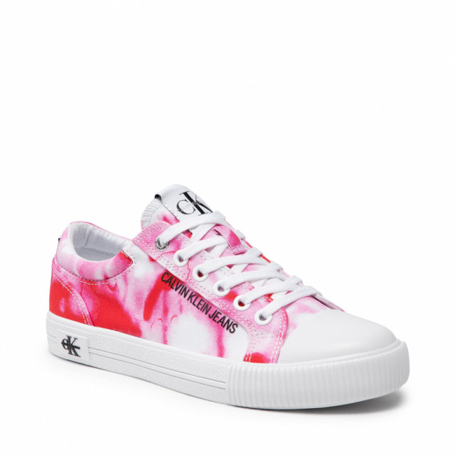 Tramky CALVIN KLEIN JEANS - Vulcanized Laceup Marble Co YW0YW00156 Marble Pink 0J4