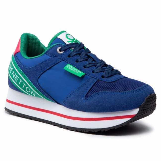 Sneakersy UNITED COLORS OF BENETTON - Joy Mix BTW113205 Blue/Green 3171