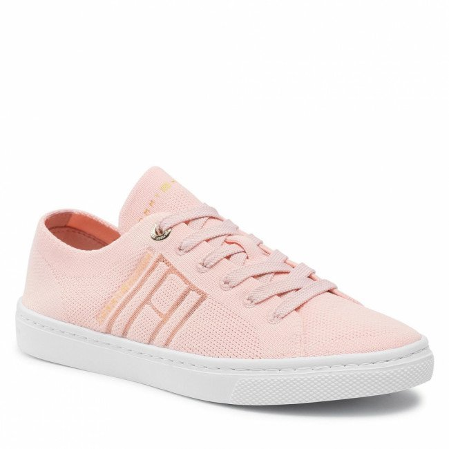 Tenisky TOMMY HILFIGER - Knitted Light Cupsole FW0FW05790 Dusty Rose TL9