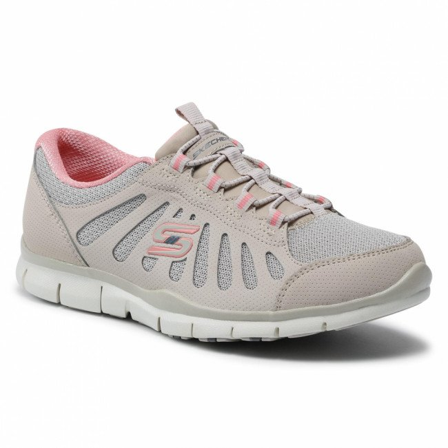 Sneakersy SKECHERS - Be Magnificent 104150/NTPK Natural/Pink
