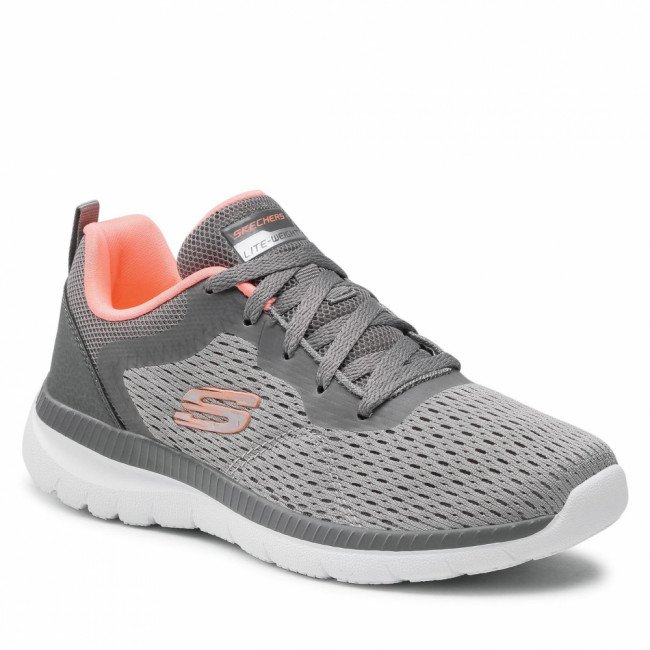 Topánky SKECHERS - Quick Path 12607/GYCL Gray/Coral