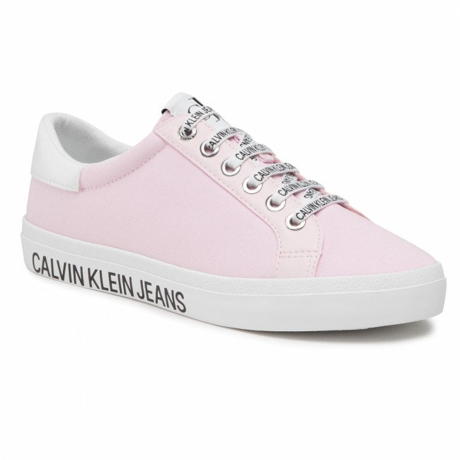 Tenisky CALVIN KLEIN JEANS - Low Profile Sneaker Laceup Co YW0YW00057 Pearly Pink TN9