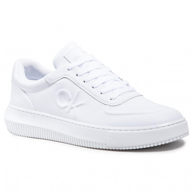 Sneakersy CALVIN KLEIN JEANS - Chunky Sole Laceup Oxford  YM0YM00035 Bright White YAF
