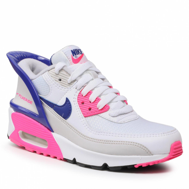 Topánky NIKE - Air Max 90 Flyease (GS) CV0526 105 White/Concord/Pink Glow