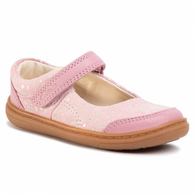 Poltopánky CLARKS - Flash Bright T 261489986 Dusty Pink Leather