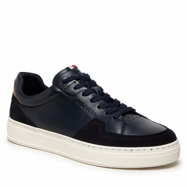 Sneakersy TOMMY HILFIGER - Cupsole Sustainable Leather Mix FM0FM03830 Desert Sky DW5