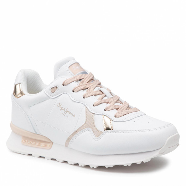 Sneakersy PEPE JEANS - Britt College Girls PGS30503  White 800