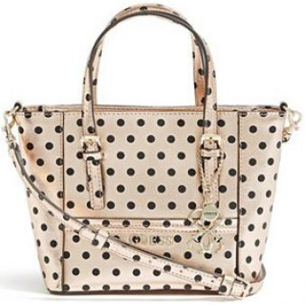 Guess Elegantná kabelka Delaney Rose Gold